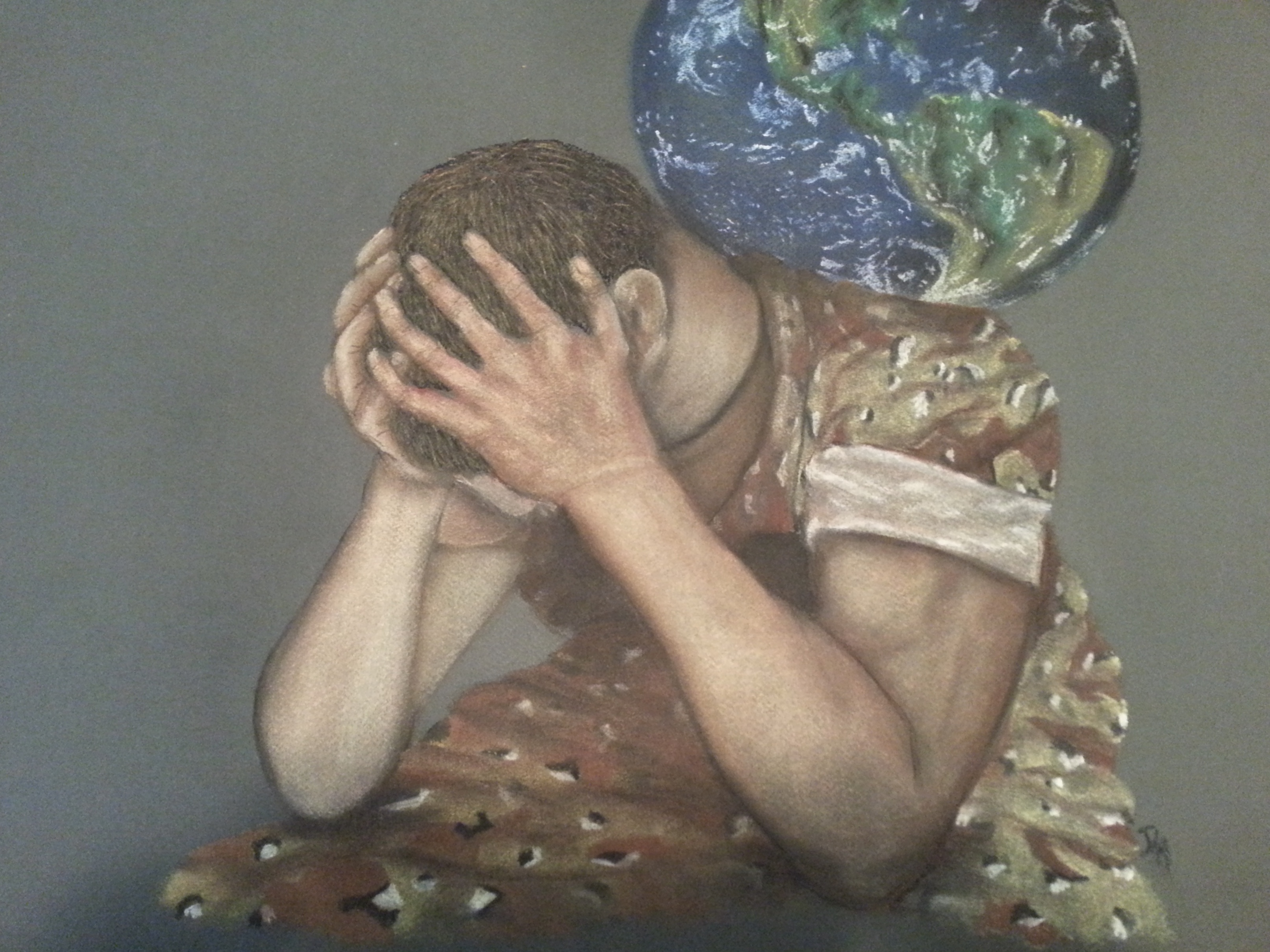 """""""The Weight"""", Pastel on Canson Paper"""