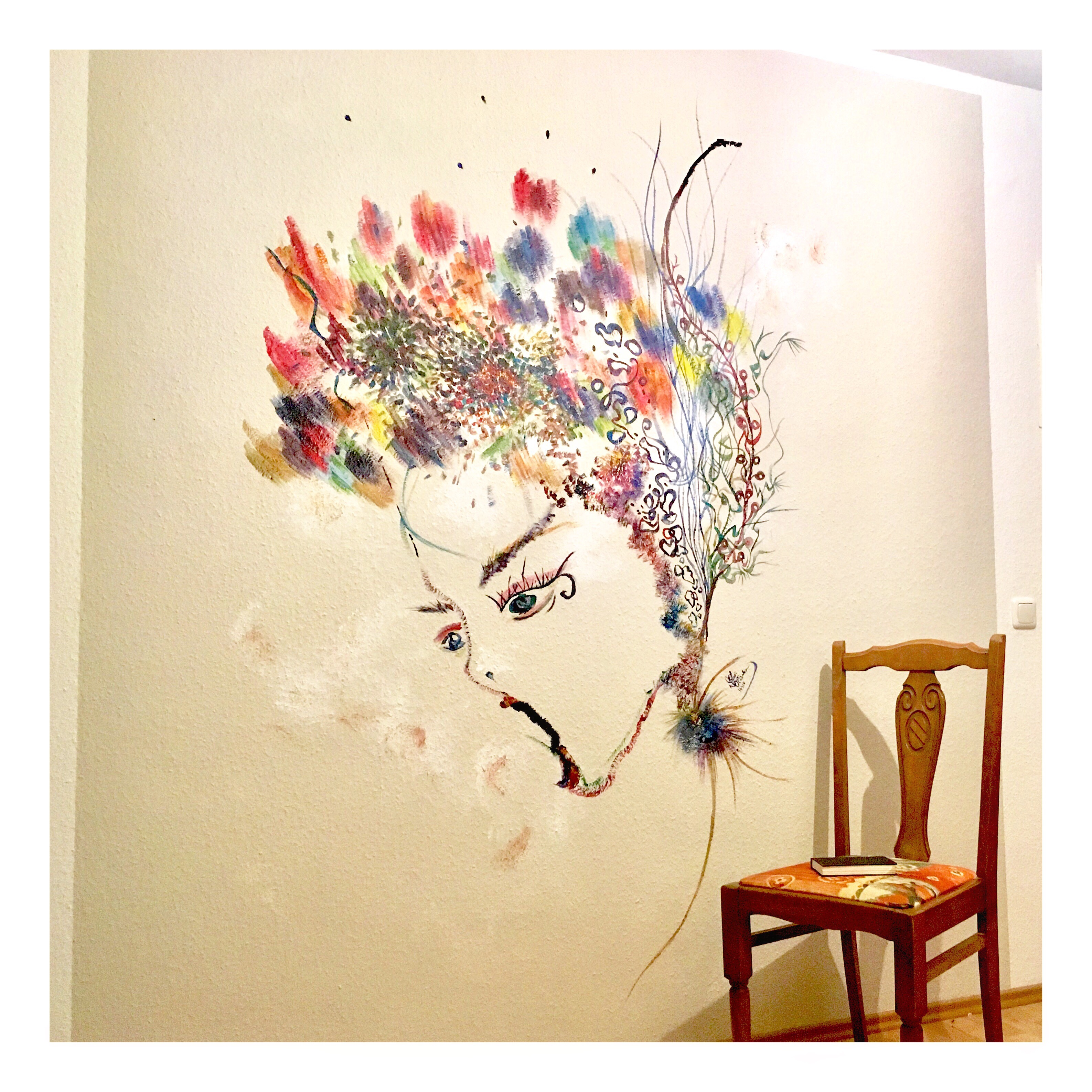 Acrylic on the wall 240 x 216 cm