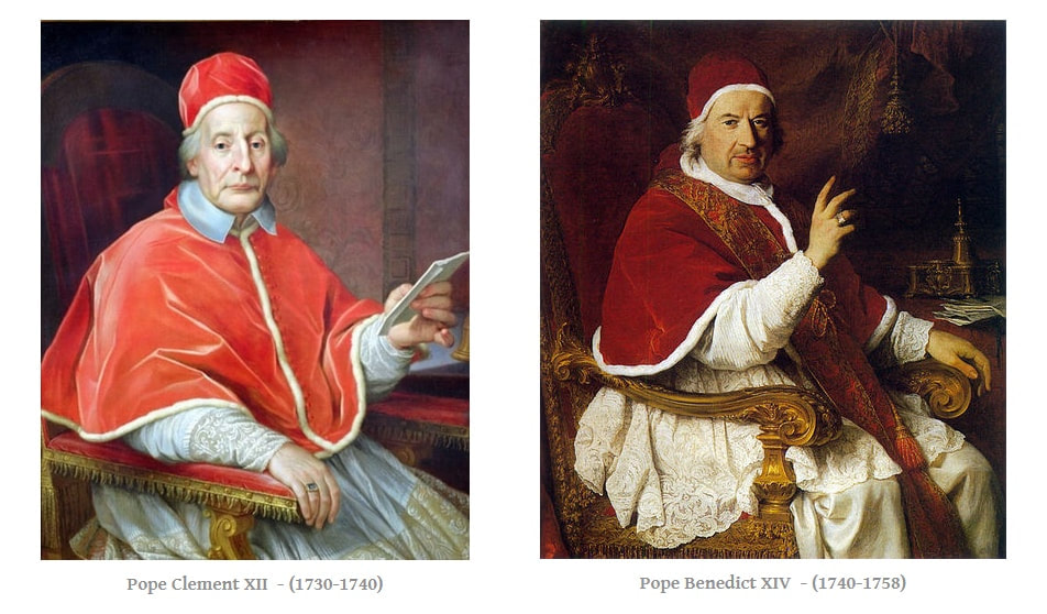 Pope Clement XII and Pope Benedict XIV