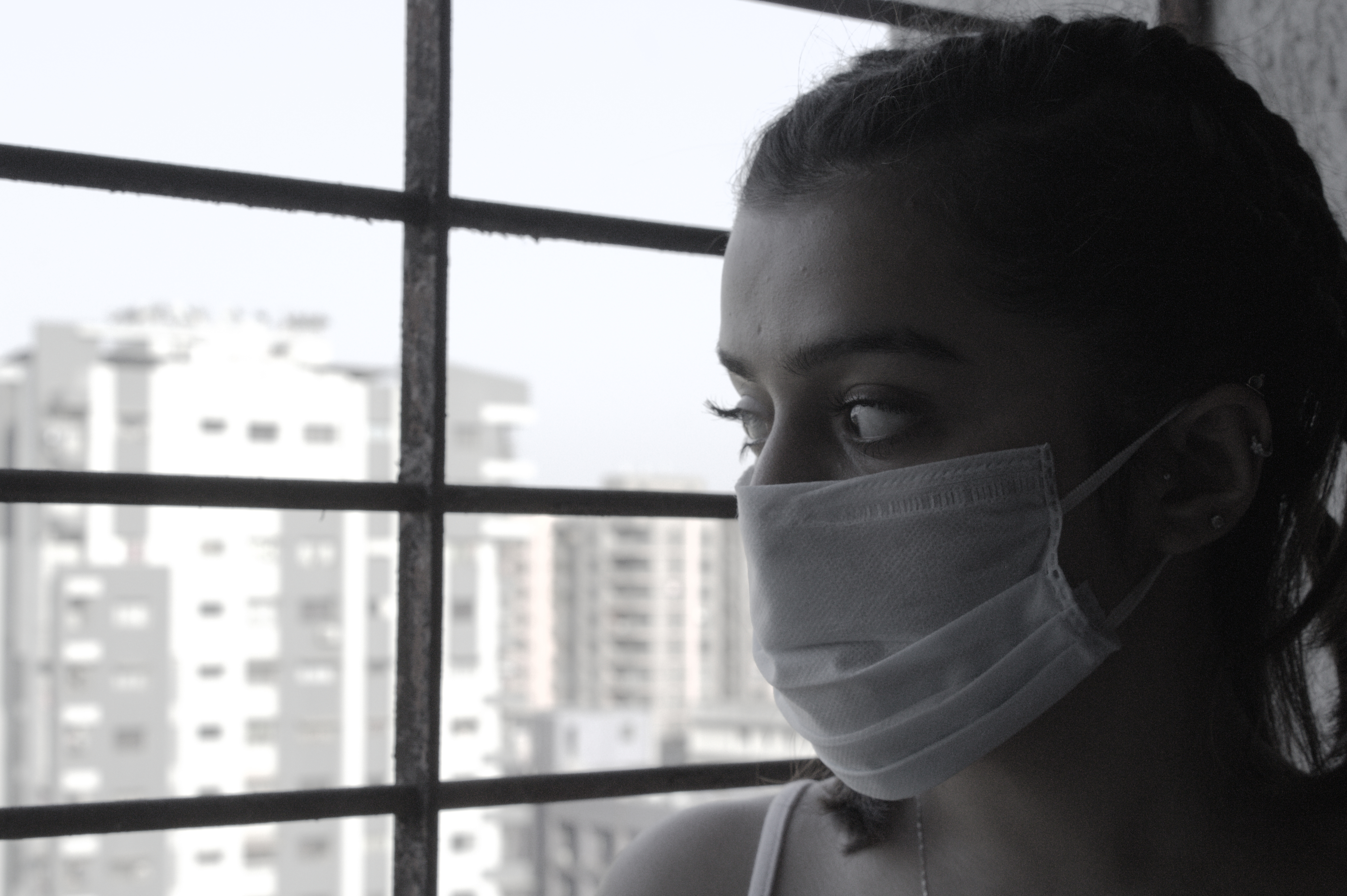 """COVID-19 SERIES, VIII.  """"Staying safe indoors, but dreaming of all the could be's"""", Gujarat, India, 2020."""
